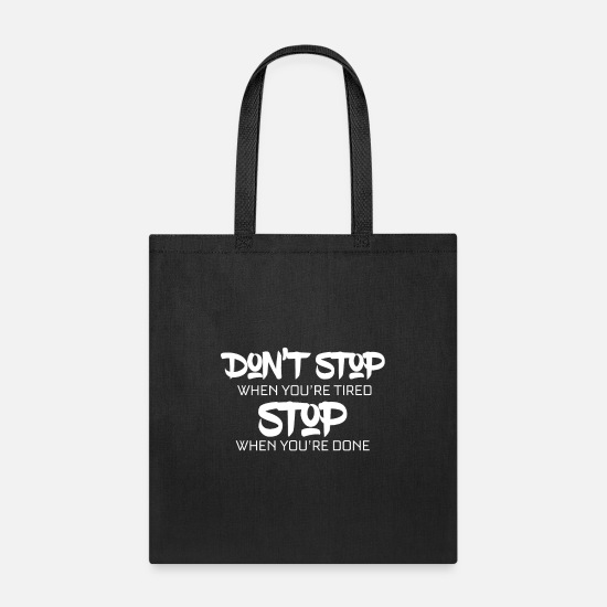 Wealthy Bags & Backpacks - Motivation - Tote Bag black
