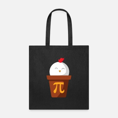 Funny Chicken In A Pot Graphic Math Geek Pi Symbol - Tote Bag