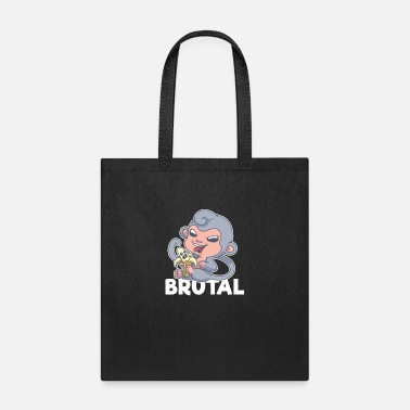 Brutality Brutal Monkey Banana Violent Gruesome Graphic Art - Tote Bag