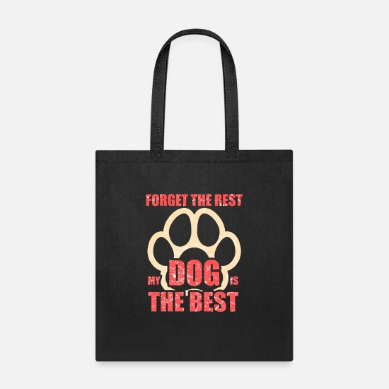 Paw Bags & Backpacks - Dog lover - Crazy dog lady. Perfect Gift. - Tote Bag black
