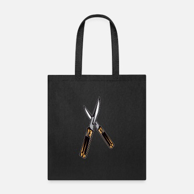Butterfly Knife Butterfly Knife - Tote Bag