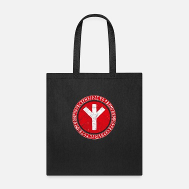 Algiz Viking Rune Man Elhaz Algiz Elk Germanic Norse - Tote Bag