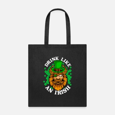 Pirate Drink Like an Irish St Patrick Day Pirate - Tote Bag