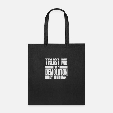 Racing Car Demolition Derby Contestant Crashing Cars - Tote Bag