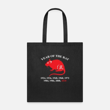 Chinese Year Of The Rat Years List Funny Chinese Lunar - Tote Bag