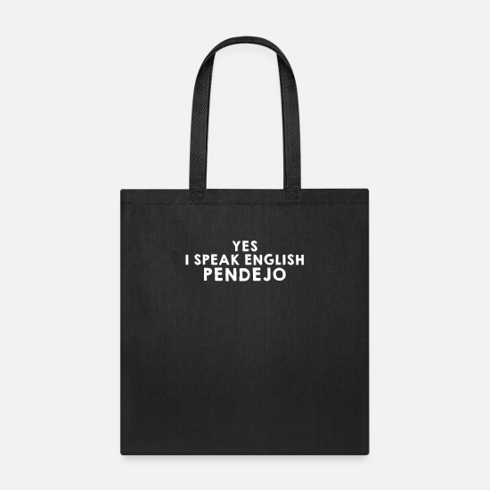 Funny Bags & Backpacks - Yes I Speak English Pendejo - Tote Bag black