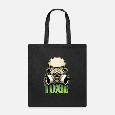 Toxic Toxic, Gas Mask, Anti Virus, Bio Hazard, Survival - Tote Bag