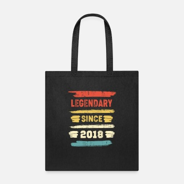 Legend Retro Birthday Gift - Vintage Legendary Since 2018 - Tote Bag