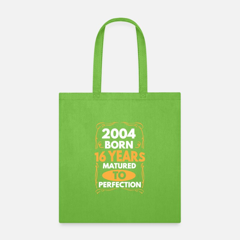 Details about  /16th Birthday Tote Bag Distressed Made in 2004 Approved Sixteenth