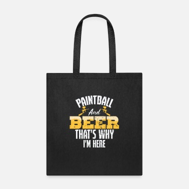 Shot Paintball and beer - Tote Bag