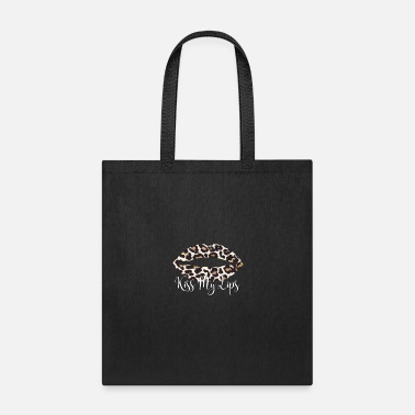 Glitter Kiss My Lips Women Funny Leopard Lips Distressed - Tote Bag