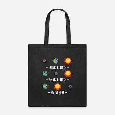 Fashion Lunar Solar Eclipse and Apocalypse Astronomy - Tote Bag