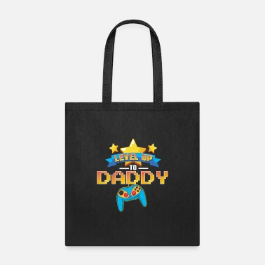 Know Video Controller Gamer Mens Leveled Daddy - Tote Bag