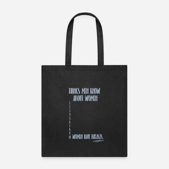 Dirty Bags & Backpacks - Men Women Naughty Couple Sayings - Tote Bag black