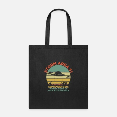 Saucer Storm Area 51 UFO Alien Abduction Retro Cool Gift - Tote Bag