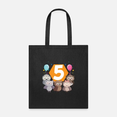 Seal-animal 5th birthday baby five 5 forest animals - Tote Bag