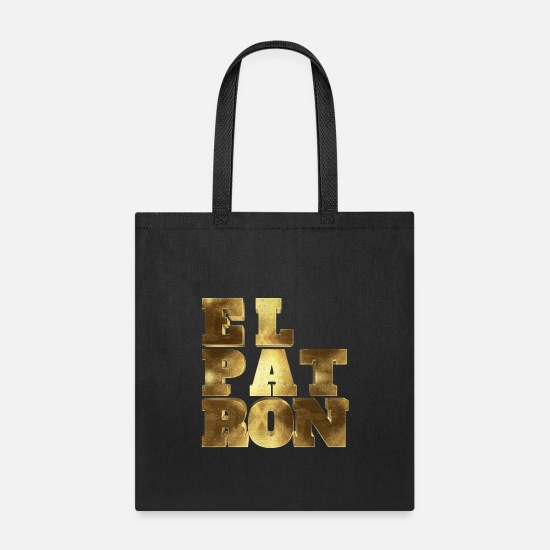 Pablo Bags & Backpacks - El Patron El Jefe Pablo Typo - Tote Bag black