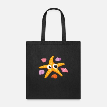 Sealife Funny Starfish - Aquatic Sealife Ocean Animal - Tote Bag