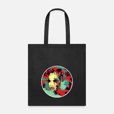 Black Natural Girl Afro Paint Art Natural Hair Beauty Pretty Girl - Tote Bag