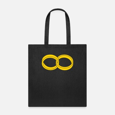 Engagement wedding rings - like a symbol of infinity - Tote Bag