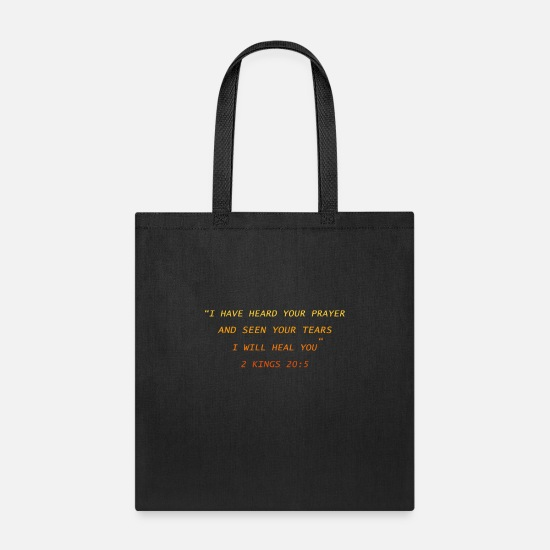 Gospel Bags & Backpacks - God will heal you - Tote Bag black