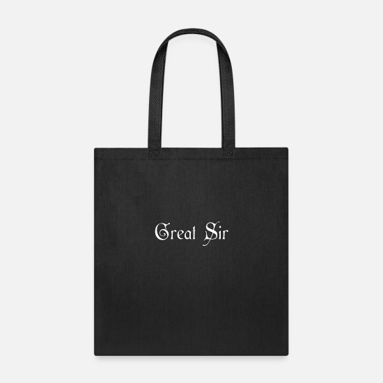 Siri Bags & Backpacks - Great Sir - Gentleman Slogan - Tote Bag black