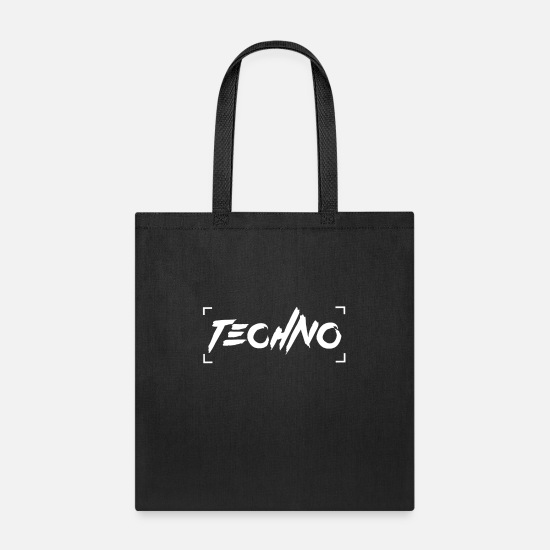 I Love Techno Bags & Backpacks - Techno Music - Tote Bag black
