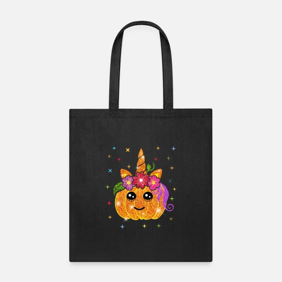 Cosplay Bags & Backpacks - Pumpkin Unicorn Halloween all hallows' eve - Tote Bag black