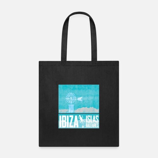 Ibiza Bags & Backpacks - islas baleares ibiza - Tote Bag black