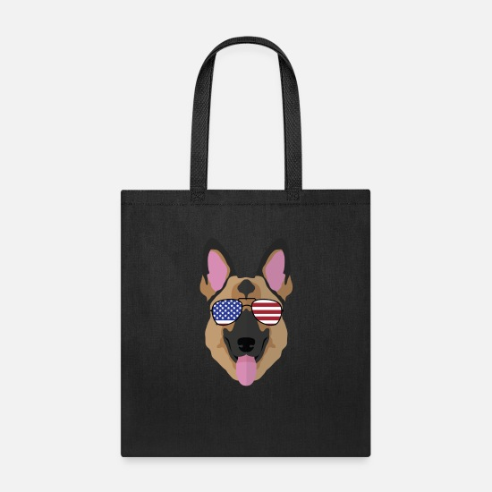 Gift Idea Bags & Backpacks - Independence Day German Shepherd July th Dog Gift - Tote Bag black