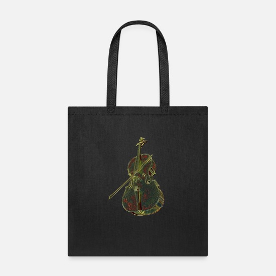 Cello Bags & Backpacks - Cello Music Instrument Professional Musician Designed - Tote Bag black