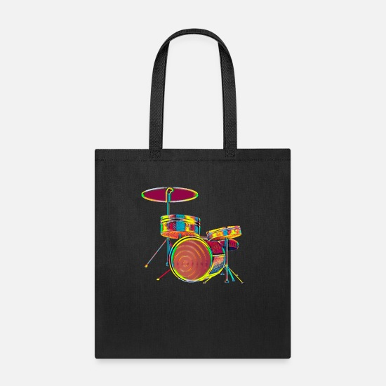 Prop Bags & Backpacks - Drummer Drums Musician Band Member Player Music Fan - Tote Bag black