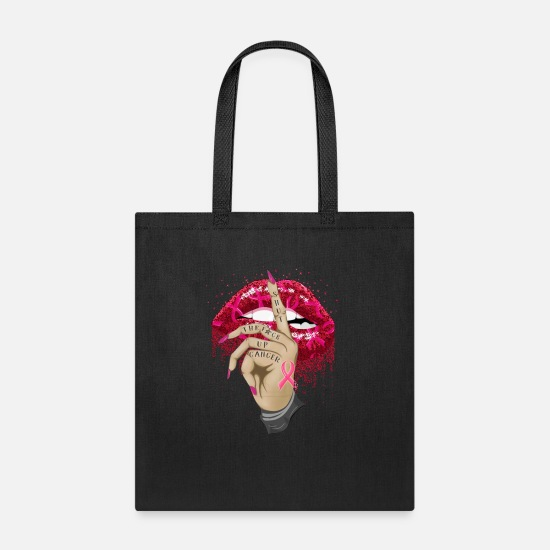 Lips Bags & Backpacks - Shut Up Sexy Lip Breast Cancer Awareness - Tote Bag black