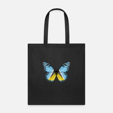Butterflies Butterfly Flag Of St Lucia - Tote Bag