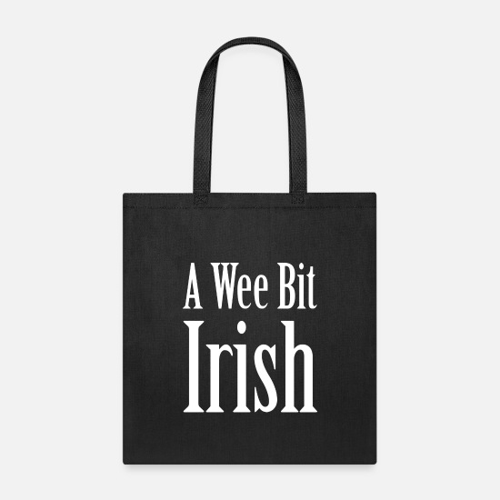 Funny Bags & Backpacks - A Wee Bit Irish - Tote Bag black