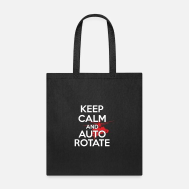 Helicopter Helicopter Keep Calm and Auto Rotate - Tote Bag