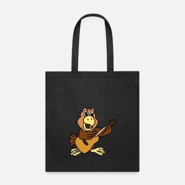 Playing Eagle Playing Guitar Funny Rock Music Guitarist - Tote Bag