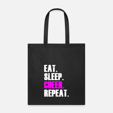 Movies EAT SLEEP CHEER REPEAT SHIRT - Tote Bag