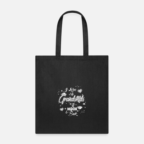 Grandmaster Bags & Backpacks - I Love My Grand Kids to the Moon And Back - Tote Bag black