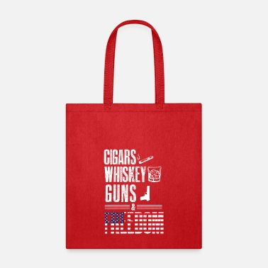 Freedom Cigars Whiskey Guns & Freedom - For Americans - Tote Bag