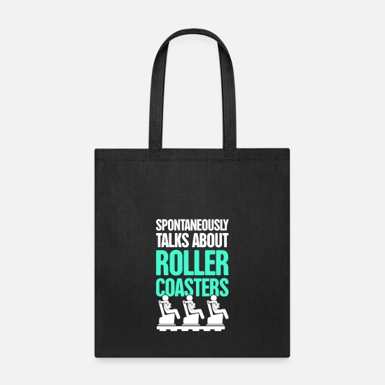 Roller Coaster Bags & Backpacks - Roller Coaster Theme Park Thrill Ride - Tote Bag black