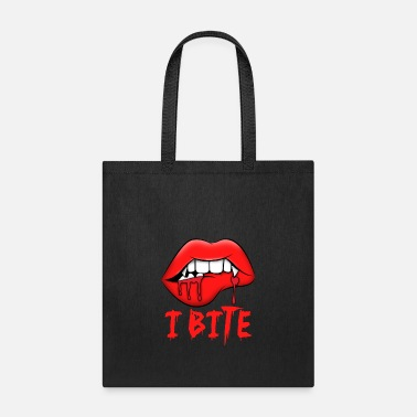 Halloween Halloween Red Vampire Lips I Bite Ghouls Gift - Tote Bag