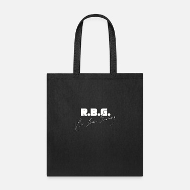 R.b.g Cool R.B.G, Design With Signature Of Ruth Bader - Tote Bag