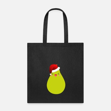 Pear Christmas Pear Fruit Funny Santa Claus Hat - Tote Bag