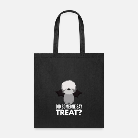 Bearded Collie Bags & Backpacks - Bearded Collie Halloween Trick or Treat - Tote Bag black