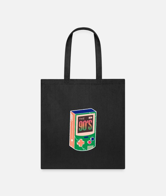 Hipster Bags & Backpacks - The 90s - Gaming - Born In The 90s Old Time Gaming - Tote Bag black