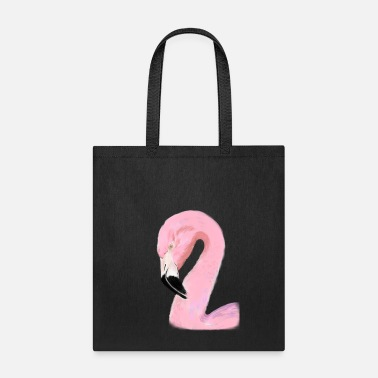 Lovely Pink Watercolor Flamingo - Tote Bag