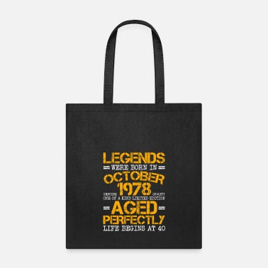 Birthday Tote Bag Legends Are Born In 1978 Forty 41st Cool Gift Idea 41 Shopper