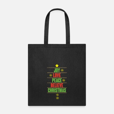 Peace Love Cruise Joy love peace believe Christmas gift - Tote Bag
