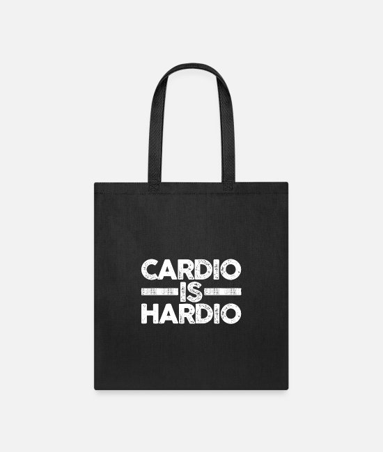 Cardiography Bags & Backpacks - Cardio is Hardio - Tote Bag black